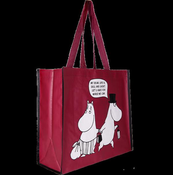 """Сумка-шоппер для покупок Moomin """"Муми-мама и муми папа"""""""
