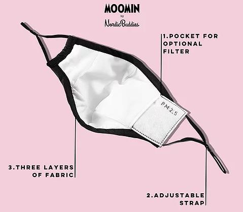 Маска для лица многоразовая Moomin Муми-тролль
