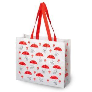 """Сумка-шоппер Moomin Муми-тролль для покупок """"Красные зонтики"""""""