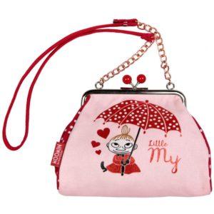 Сумка-кошелек на ремешке  Moomin LITTLE MY'S красная