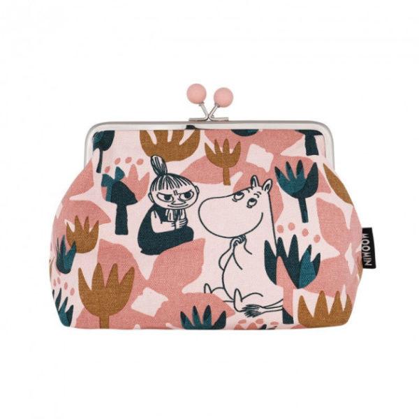 Кошелек Moomin BLOOMING ROSE большой розовый