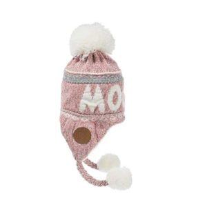 Шапка с помпоном женская Moomin розовая