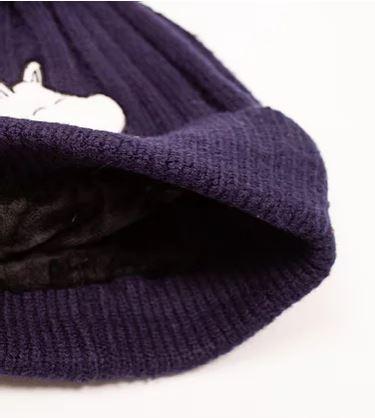 Шапка с помпоном детская Moomin Муми-тролль синяя