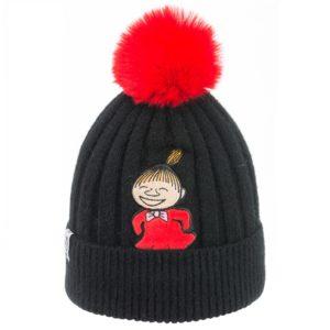 Шапка детская  с красным помпоном Moomin Малышка Мю