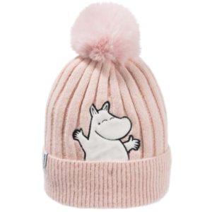 Шапка с помпоном детская Moomin Муми-тролль розовая