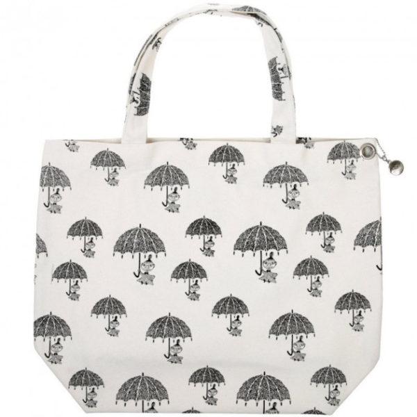 Экосумка для покупок Moomin Малышка Мю с зонтиком белая
